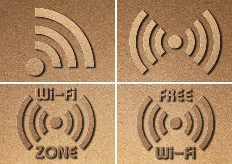 Papier de symbole de WiFi image libre de droits