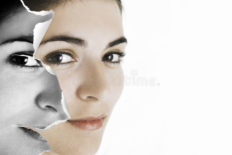 Papier de visage images stock