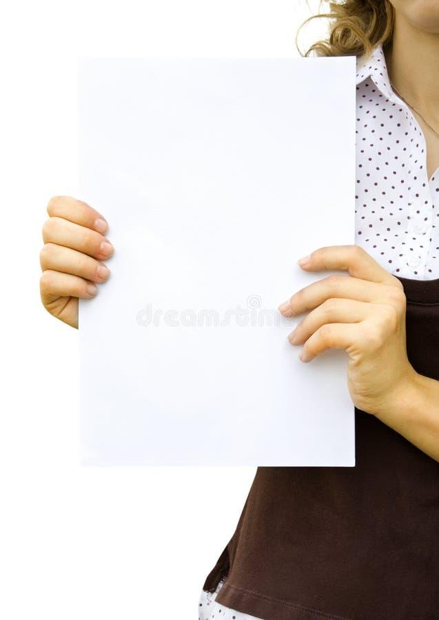 Papier in der Hand lizenzfreies stockbild
