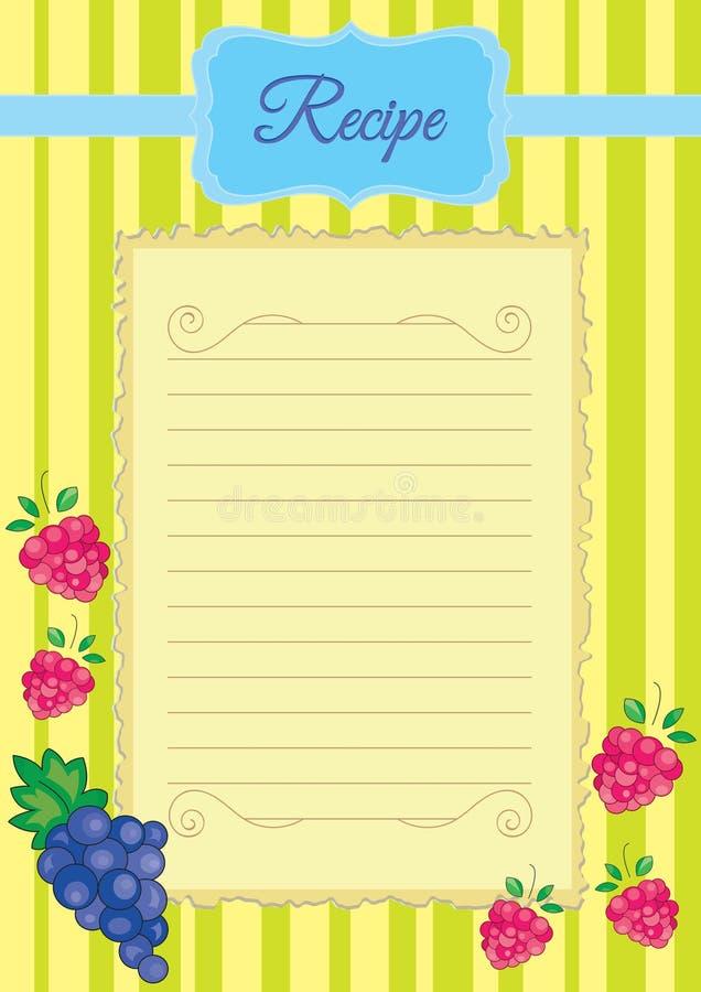 Papier dla kulinarnych notatek, przepisu papier royalty ilustracja