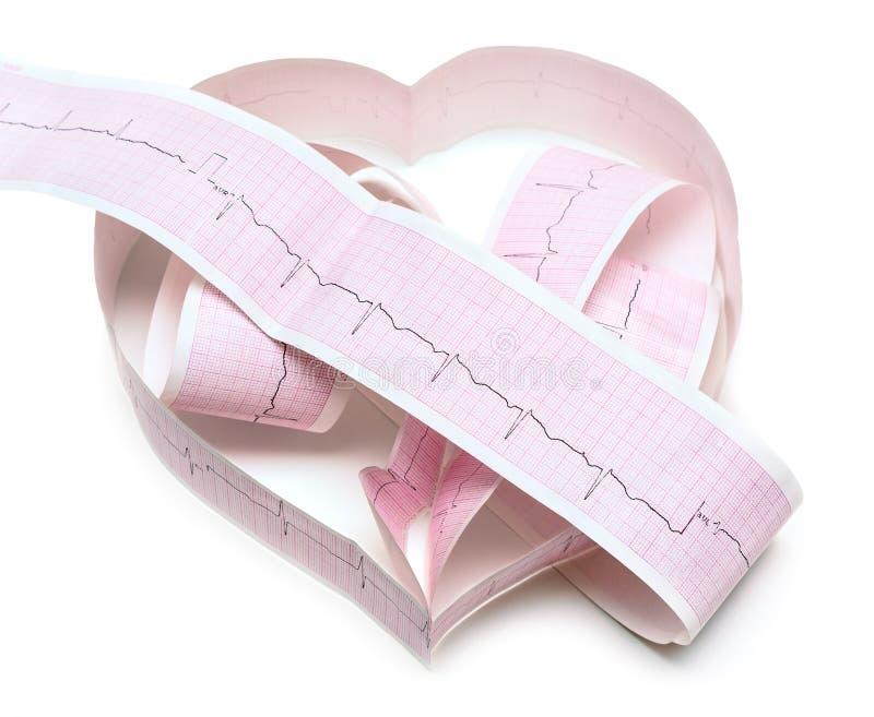 Papier-ECG-Diagramm In Form Des Herzens Stockfoto - Bild von hören ...