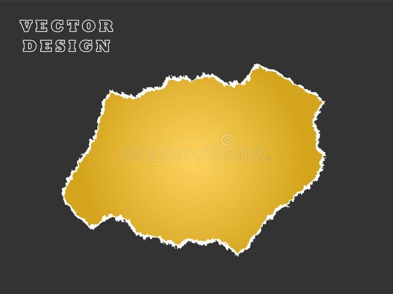 Papier Ein Stück, ein Schrott aus Gelb Vector-Objekt auf isoliertem Hintergrund vektor abbildung