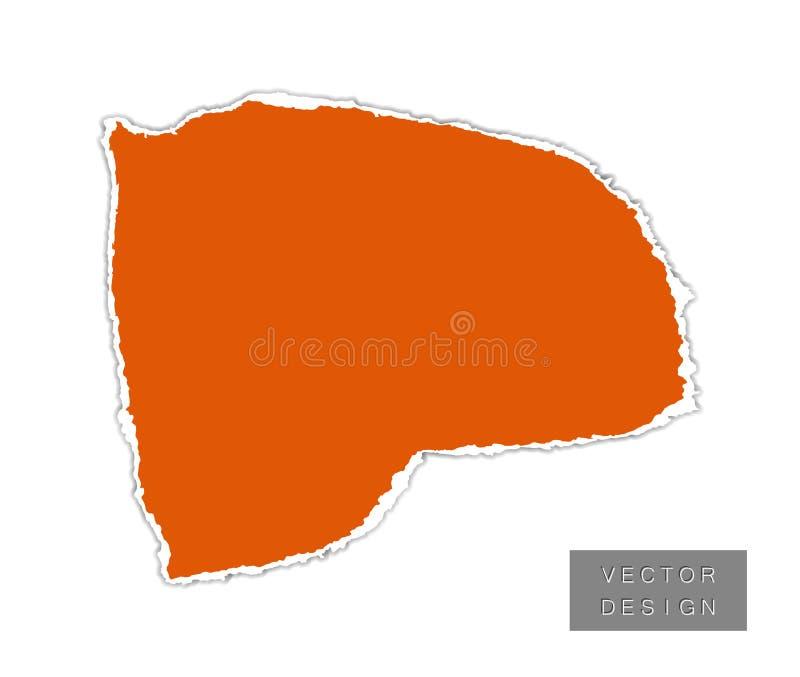Papier Ein Stück, ein Schrott mit Schatten Vector-Objekt isoliert auf hellem Hintergrund vektor abbildung