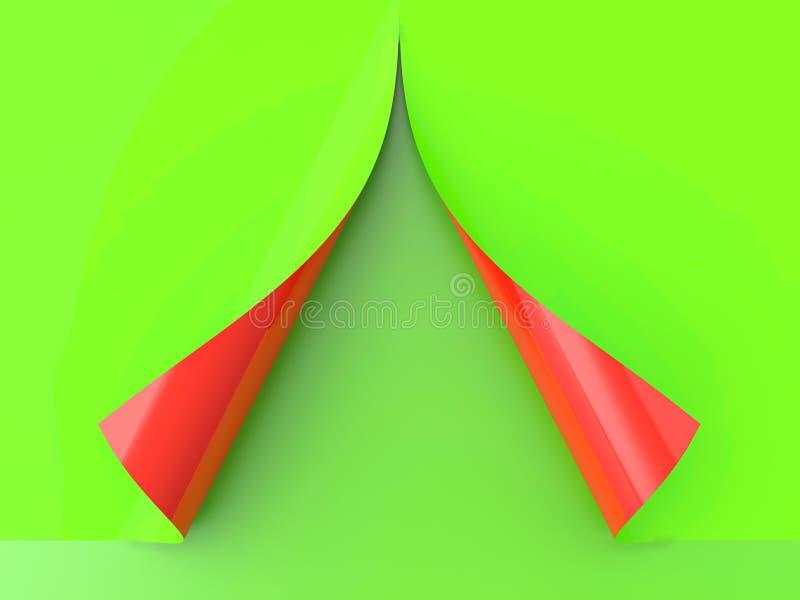 Papier enroulé illustration de vecteur