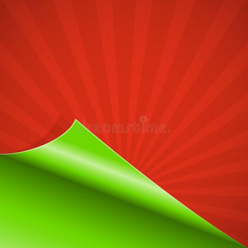 Papier enroulé par rouge illustration stock