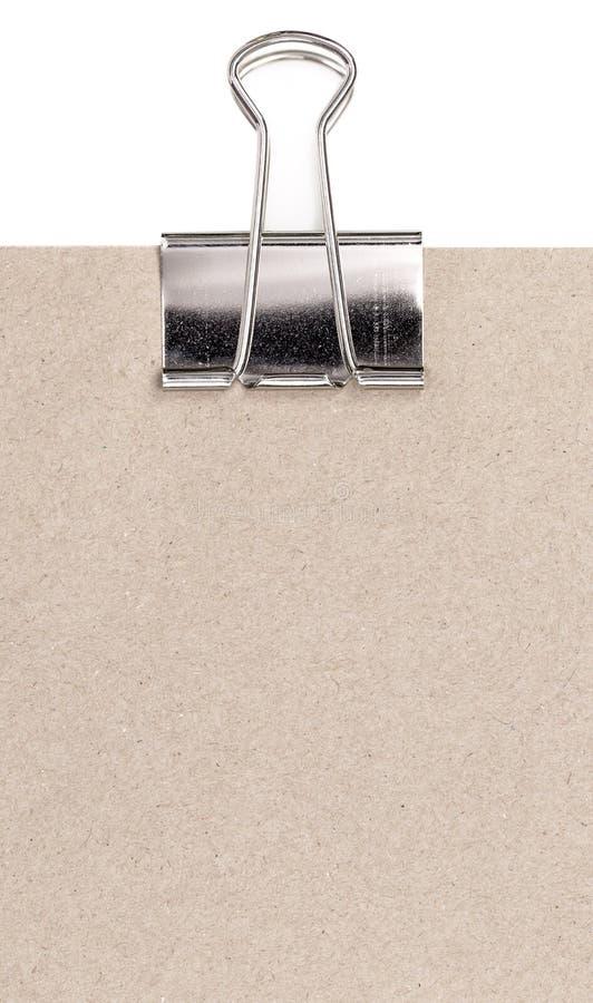 Papier et agrafe photo stock