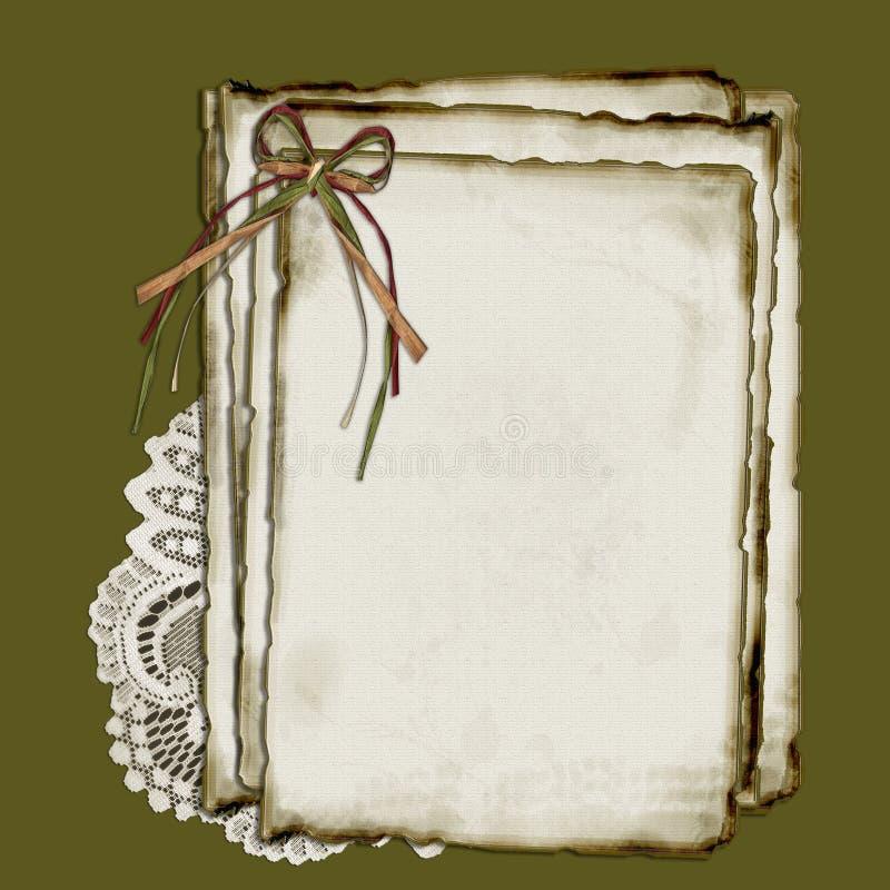 Papier et lacet illustration stock