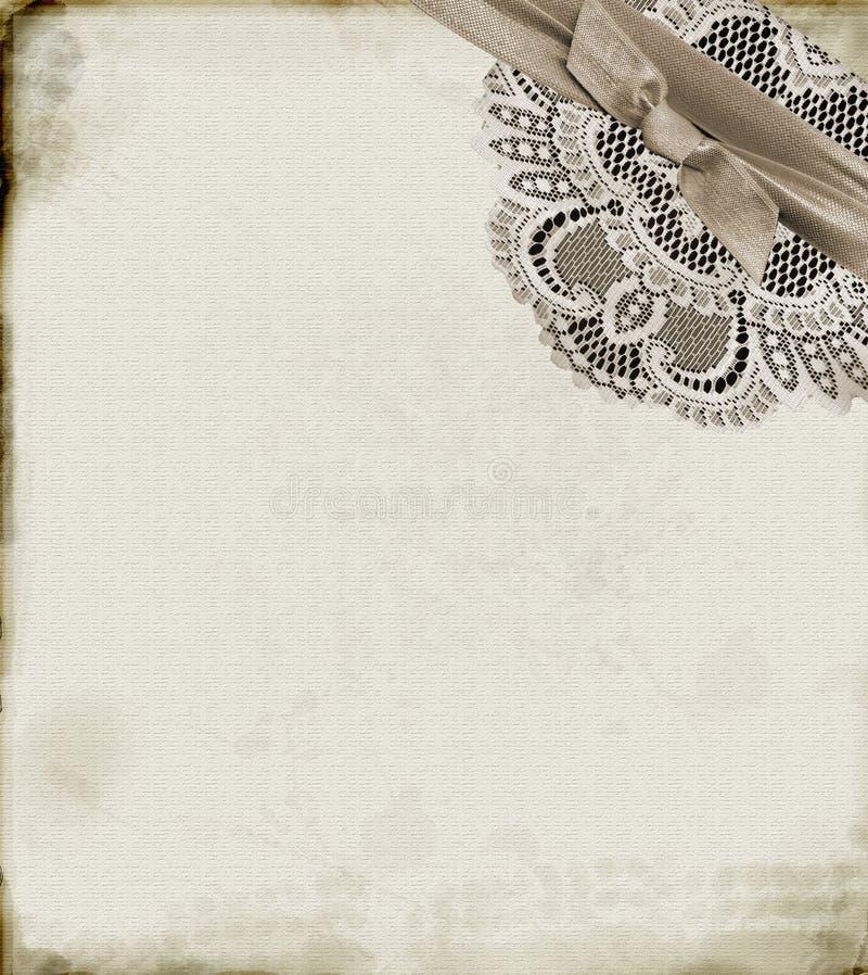 Papier et lacet illustration de vecteur