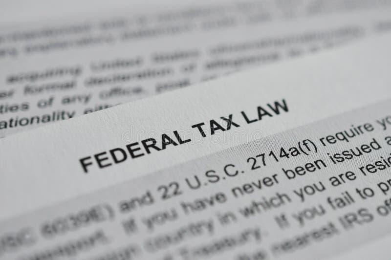 Papier fédéral de droit fiscal photographie stock