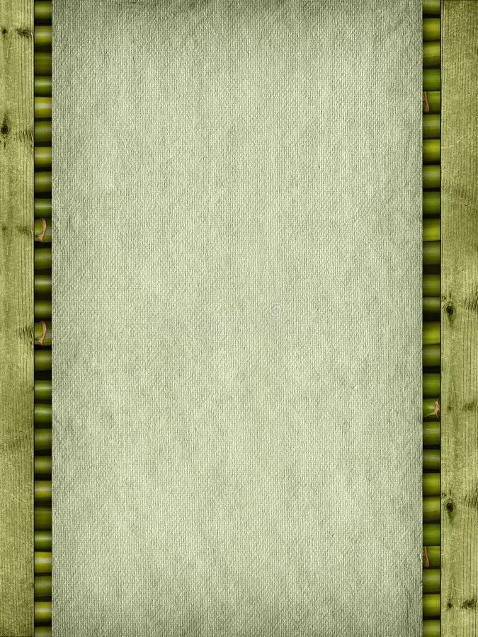 Papier fait main, planches et bâtons en bambou photos libres de droits