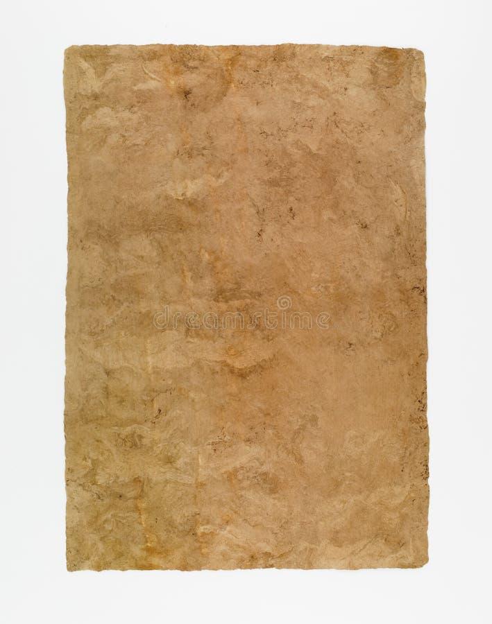 Papier fait main pour le fond historique de document photographie stock libre de droits