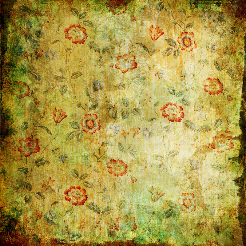 Papier floral de cru illustration de vecteur