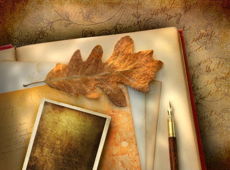 Papier floral de cru avec la photo images stock