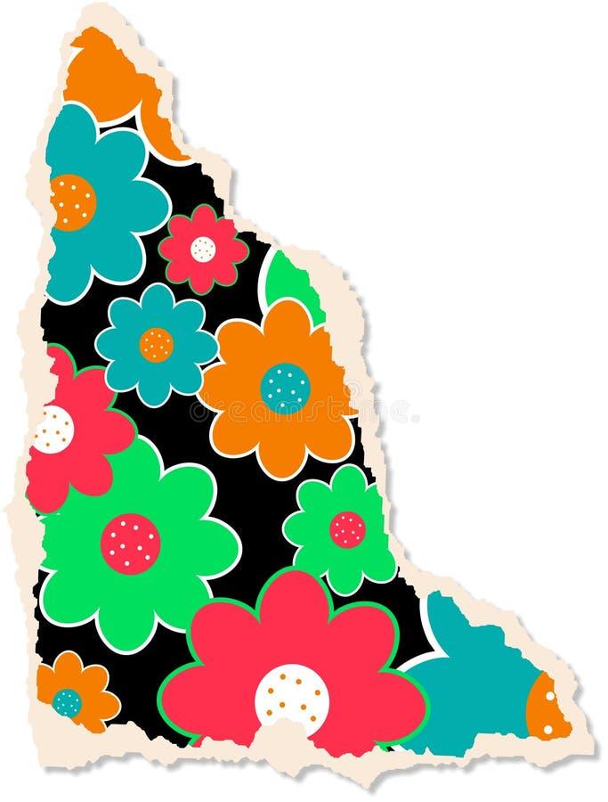 Papier floral de Scrapbooking illustration de vecteur