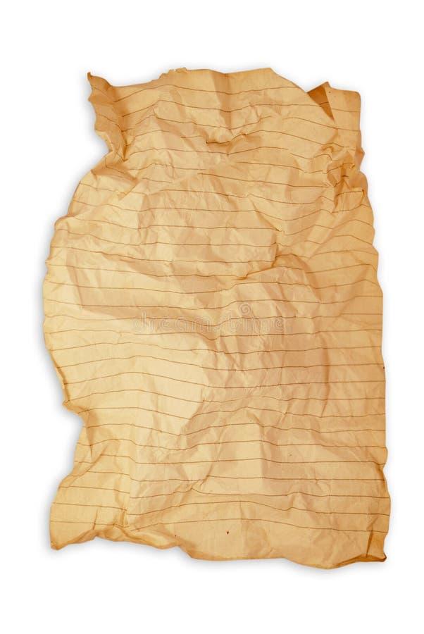 Papier folio froissé images libres de droits