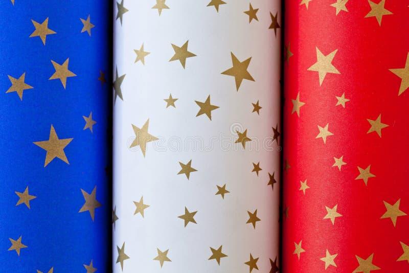 Papier français Rolls de drapeau photo libre de droits