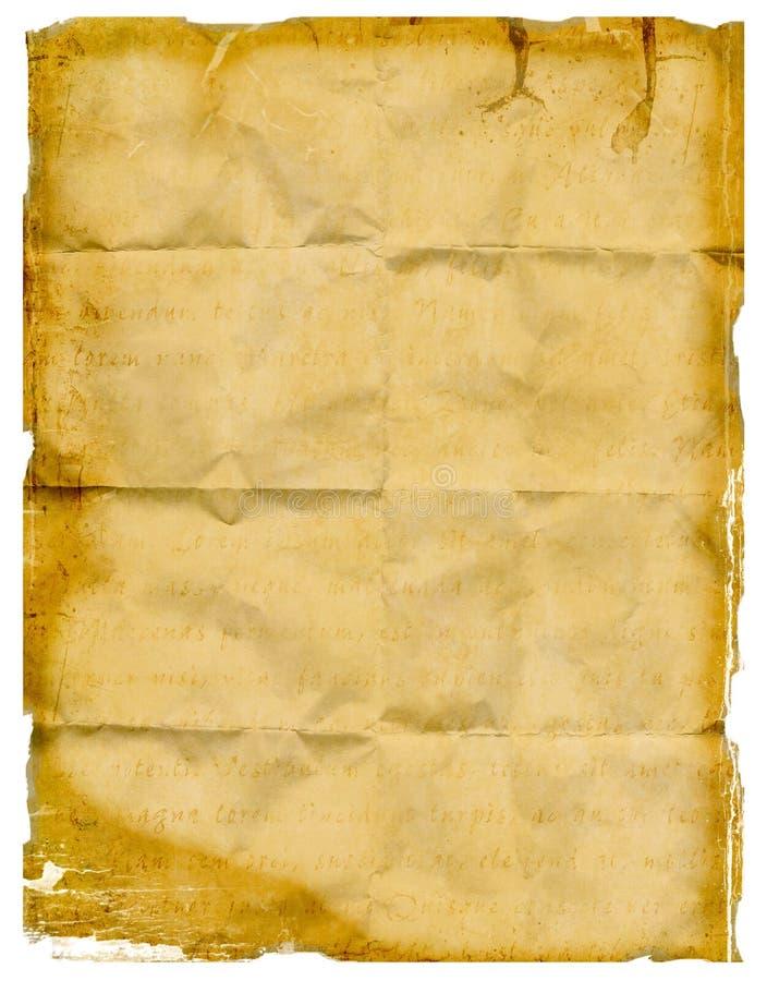 Papier froissé emietté images libres de droits