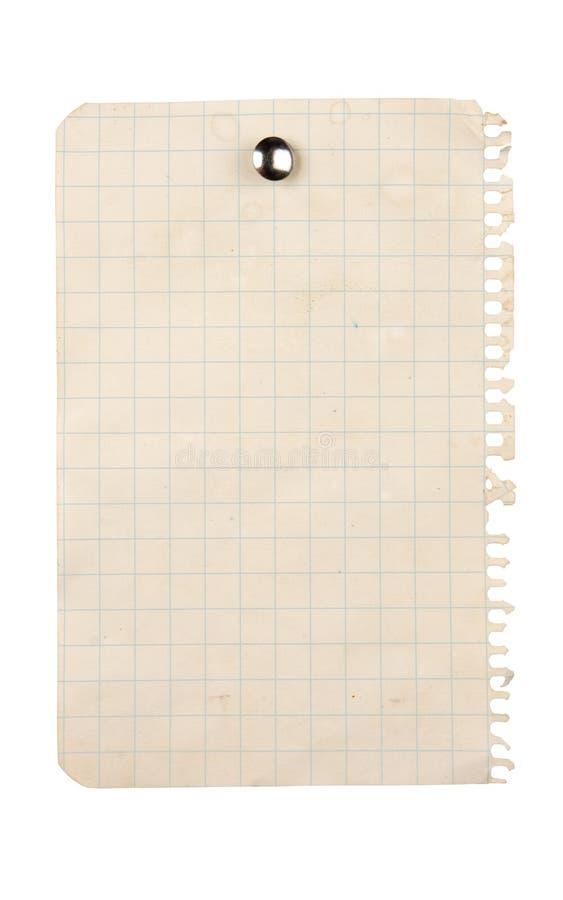 Papier goupillé photographie stock