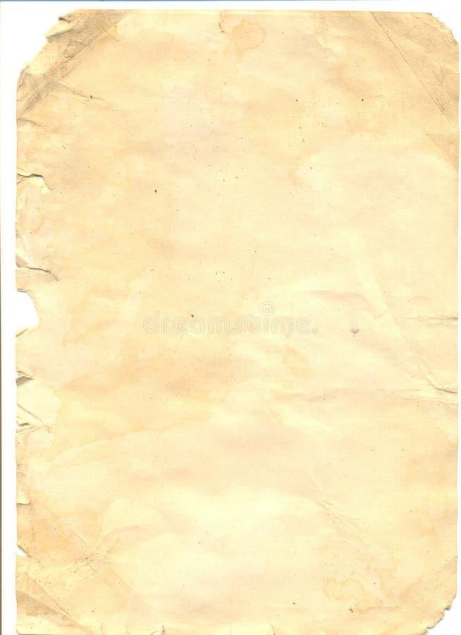 Papier grunge de cru photo libre de droits