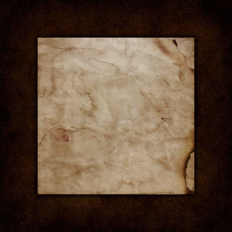 Papier grunge sur une vieille texture en cuir illustration stock