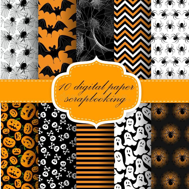 Papier Halloweens Digital lizenzfreie abbildung
