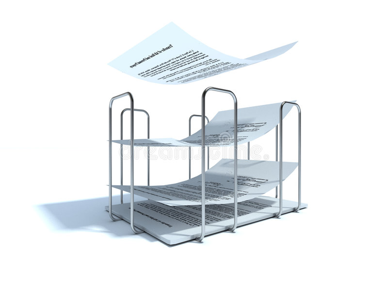 Papier-Halterung stock abbildung