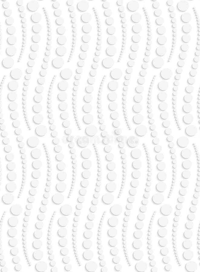 Papier herausgeschnittene punktierte vertikale Schlangen lizenzfreie abbildung