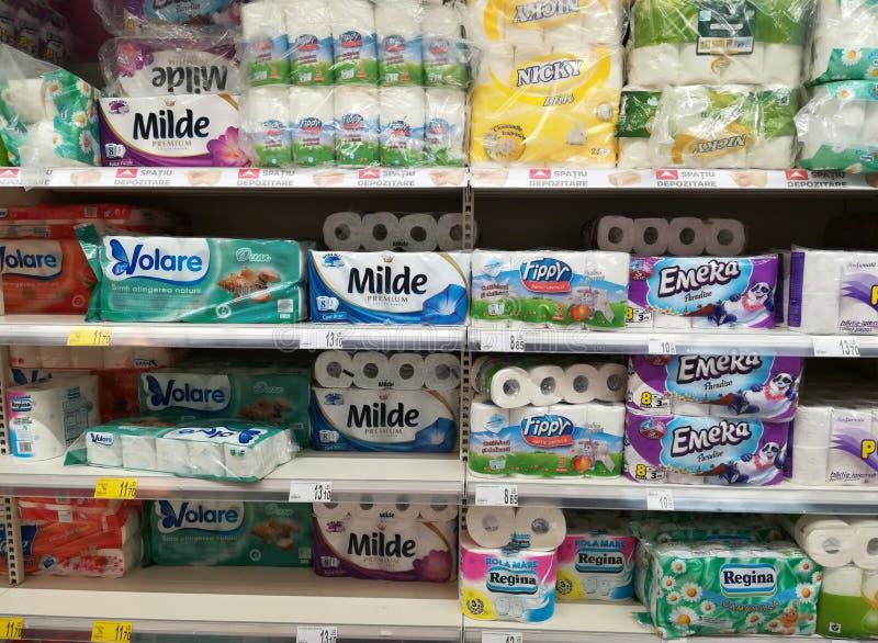 Papier hygiénique photos stock