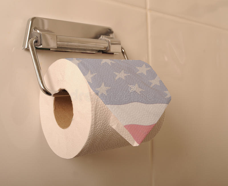 Papier hygiénique américain photographie stock
