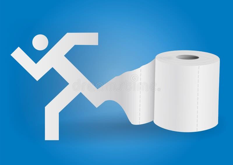 Papier hygiénique avec l'icône de l'homme courant illustration libre de droits