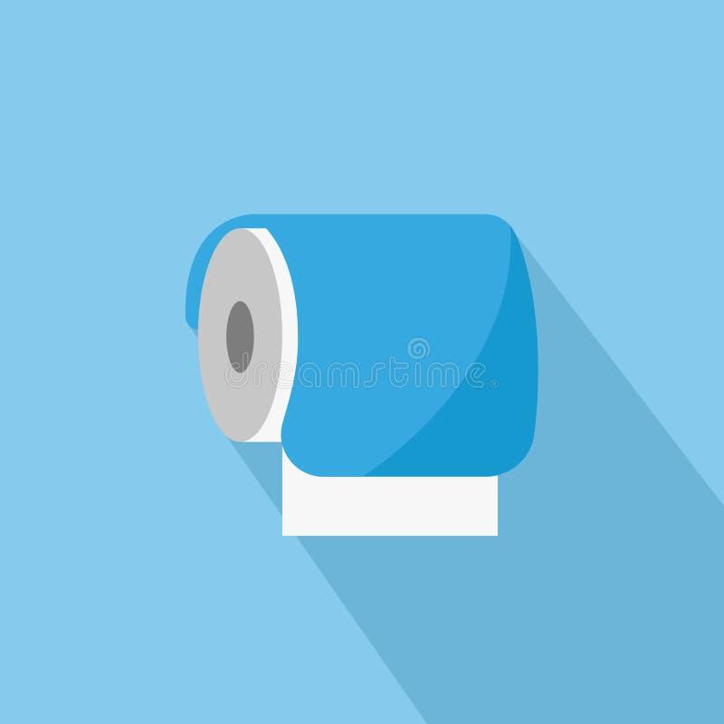 Papier hygiénique dans le style plat illustration de vecteur