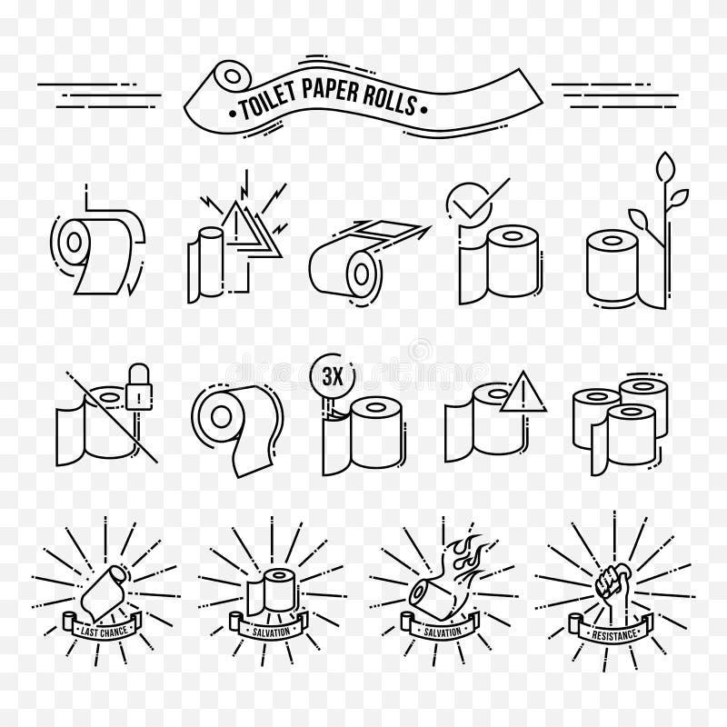 Papier hygiénique Rolls illustration stock