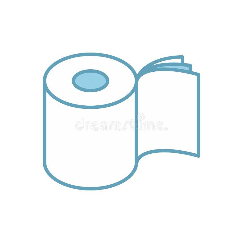 Papier hygiénique trois couches d'icône de petit pain Symbole pour l'emballage Vecteur illustration stock