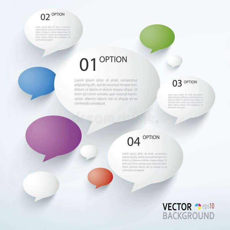 Papier Infographics illustration libre de droits