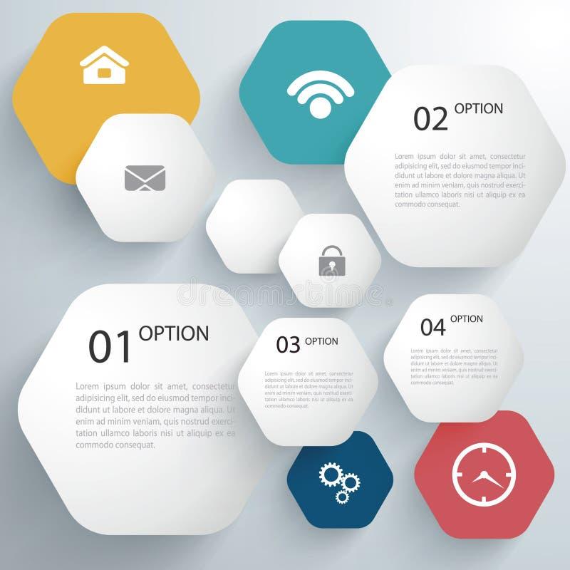 Papier Infographics illustration de vecteur