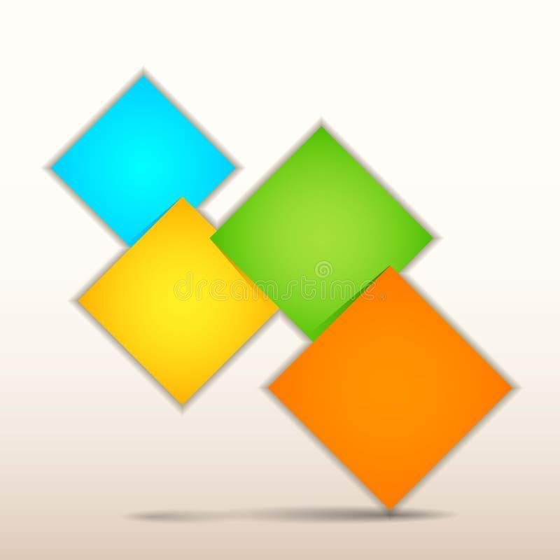 Papier Infographics d'origami illustration libre de droits
