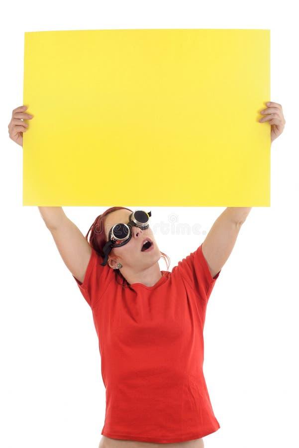 Papier jaune d'avis photo stock