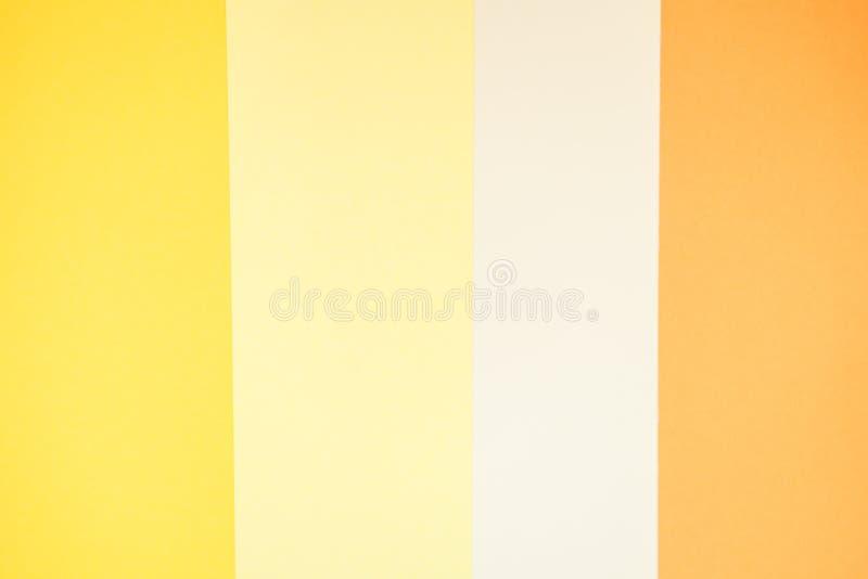 Papier jaune de couleur à quatre nuances photo libre de droits