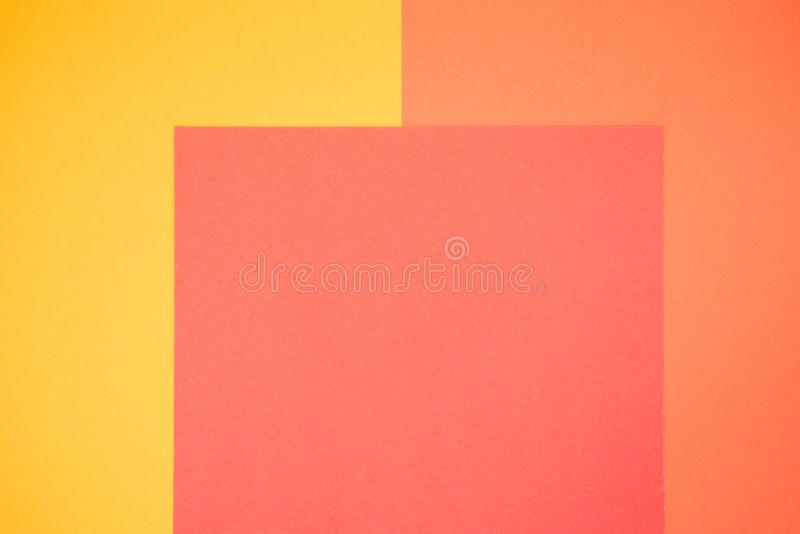 Papier jaune et orange de couleur, fond abstrait image stock