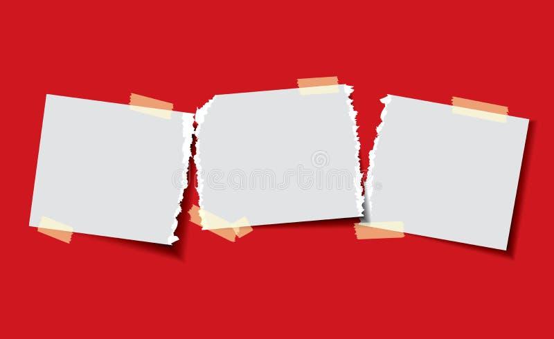 Papier mit klebrigem Band stock abbildung
