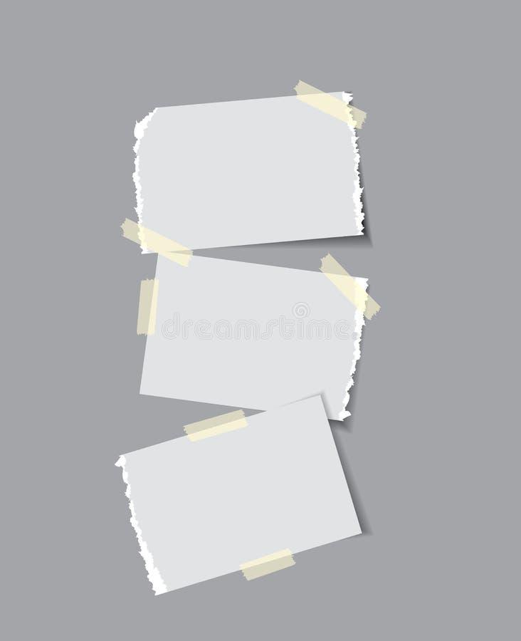 Papier mit klebrigem Band vektor abbildung
