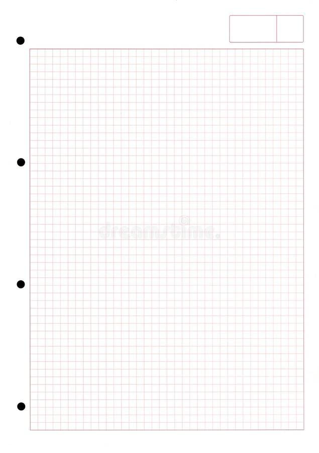 Papier mit quadratischem Muster stockbild