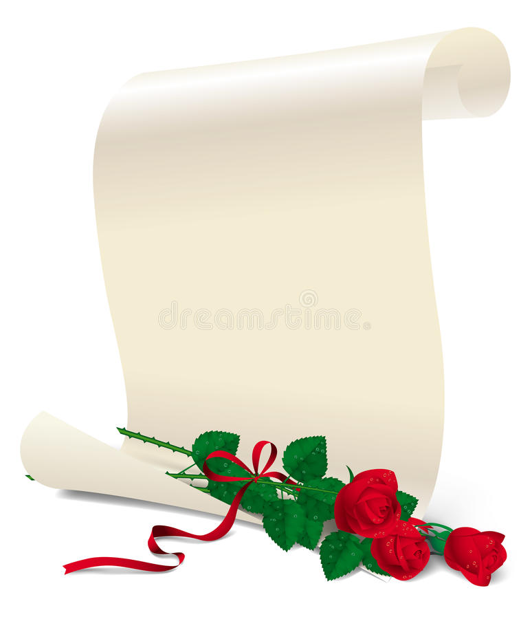 Papier mit Rosen vektor abbildung
