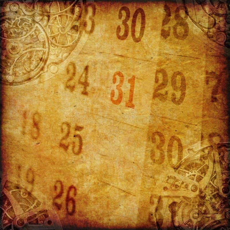 Papier mit Uhr und Kalender lizenzfreies stockfoto