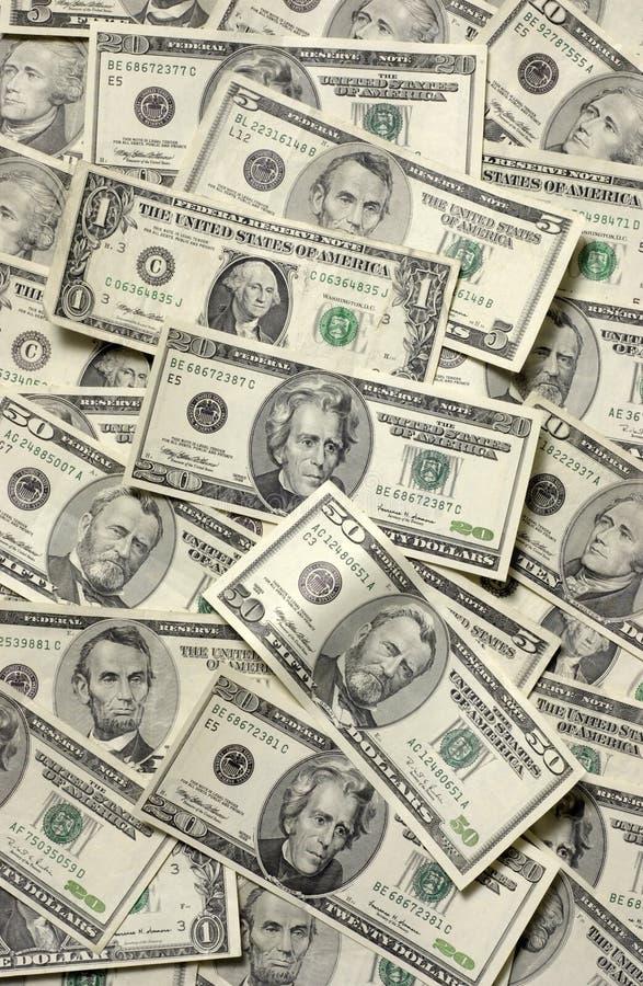 Papier-monnaie fait au hasard des Etats-Unis photo libre de droits