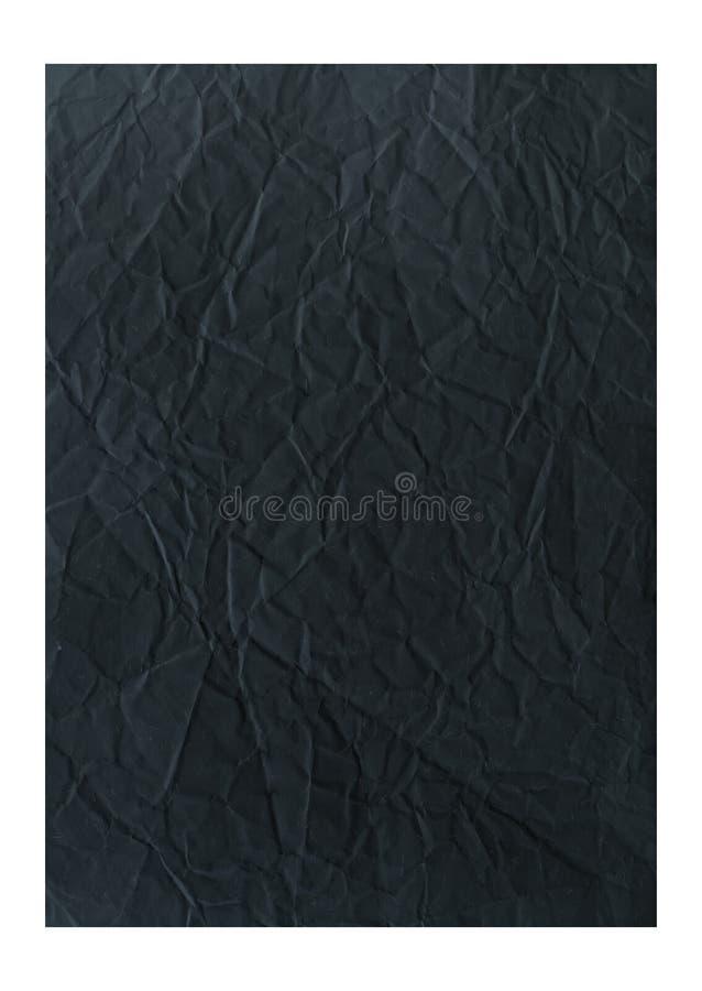 Papier noir chiffonné photo stock