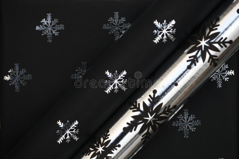 Papier noir de Noël image libre de droits