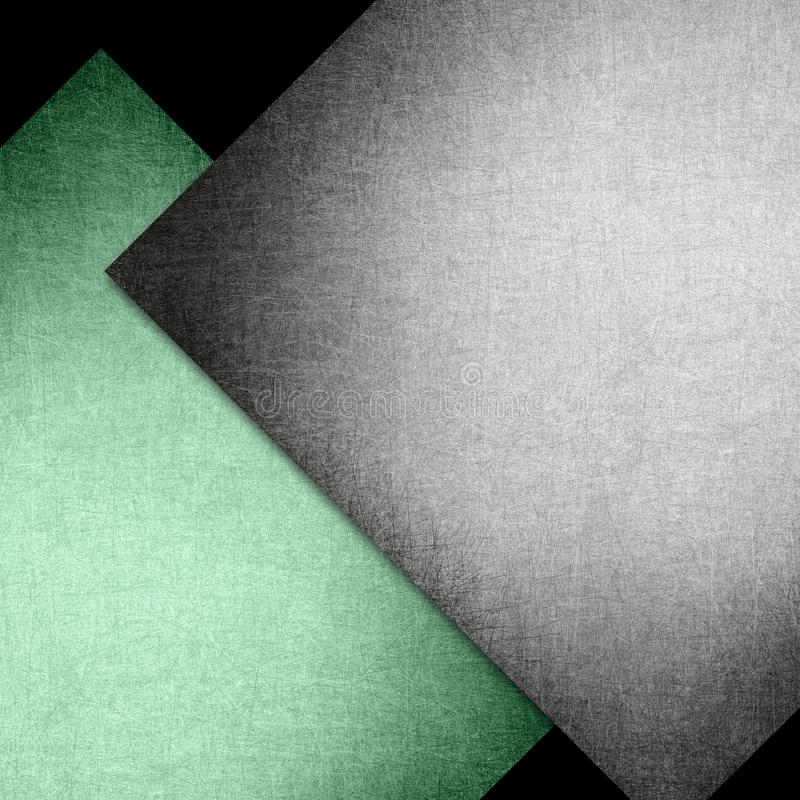 Papier noir et vert élégant de texture de fond avec des angles abstraits et des lignes et des formes diagonales de diamant dans l illustration libre de droits