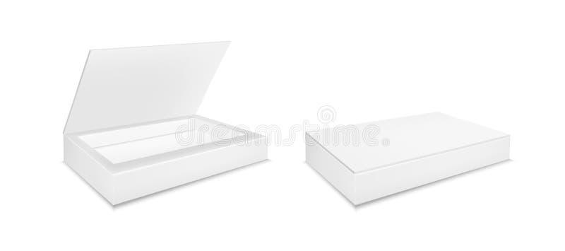 Papier- oder offener Plastikkasten f?r S??igkeit, Imbisse oder Nahrung lizenzfreie abbildung
