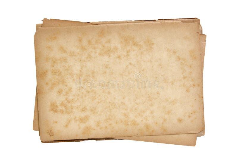 papier odosobniona stara sterta obrazy royalty free